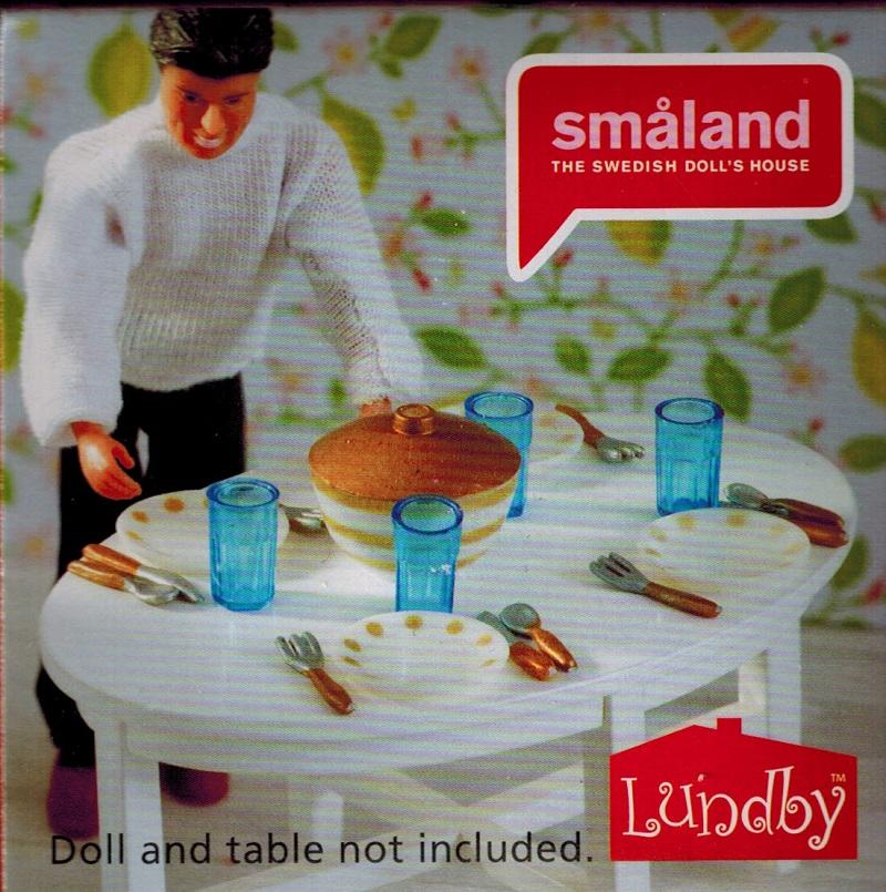 Lundby maison de poup e smaland couverts assiette - Maison de poupee lundby ...