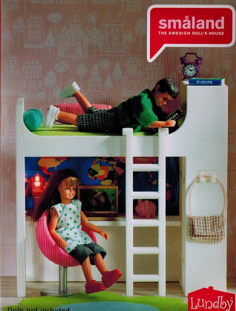 lundby smaland bett hochbett sessel 1 18 ebay. Black Bedroom Furniture Sets. Home Design Ideas
